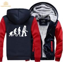 The Big Bang Theory Robot Evolution Funny Hoodie Men 2019 Winter Jackets Warm Fleece High Quality Sweatshirt Thicken Hoodies