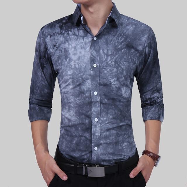 2017 Camicie da Uomo di Moda di Lusso Mens Vestito Stampa Floreale Shirt  Unico Progettista di d8b7b7973ee