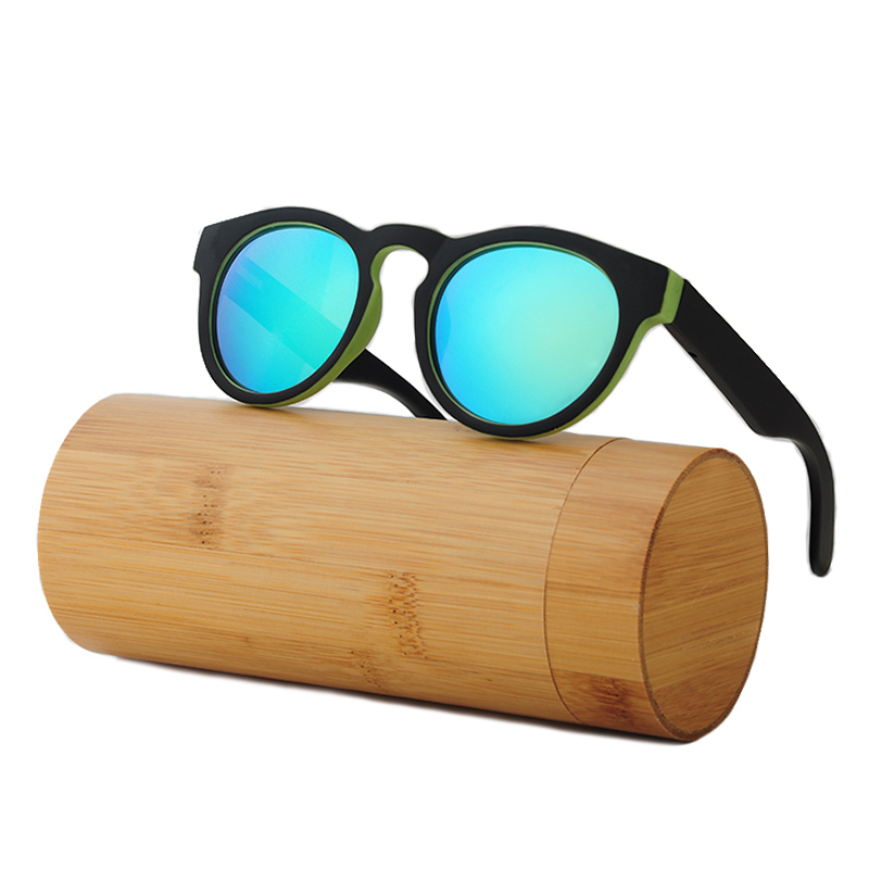 LONSY Handmade Putaran Bambu Sunglasses Wanita Kacamata Kayu Pria - Aksesori pakaian - Foto 4
