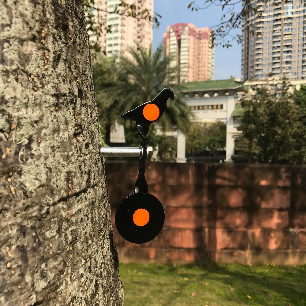 Black Steel Spiral Black Pigeon Target Screwed Into Any Wooden Object Enjoy Airsoft Steel Bbs, Slingshot Shooting Fun