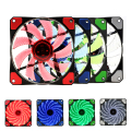 15 Lights 4 Color LED PC Computer Chassis Fan Case Heatsink Cooler Cooling Fan DC 12V 4P 3P 120*120*25mm