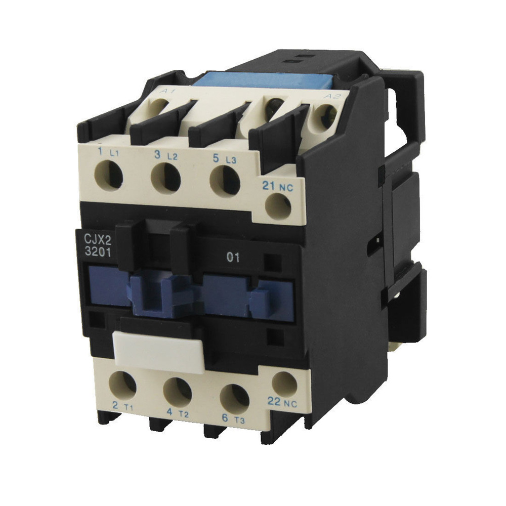 3P+NC( Normally Closed) CJX2-32 AC Contactor Motor Starter Relay 50/60Hz 24VAC Coil Voltage 32A Rated Current DIN Rail Mount