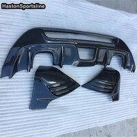 Для Ford Fiesta MK7 ABS Поддельные углеродного волокна заднего бампера Диффузор Splitter фартук 2008 ~ 2012