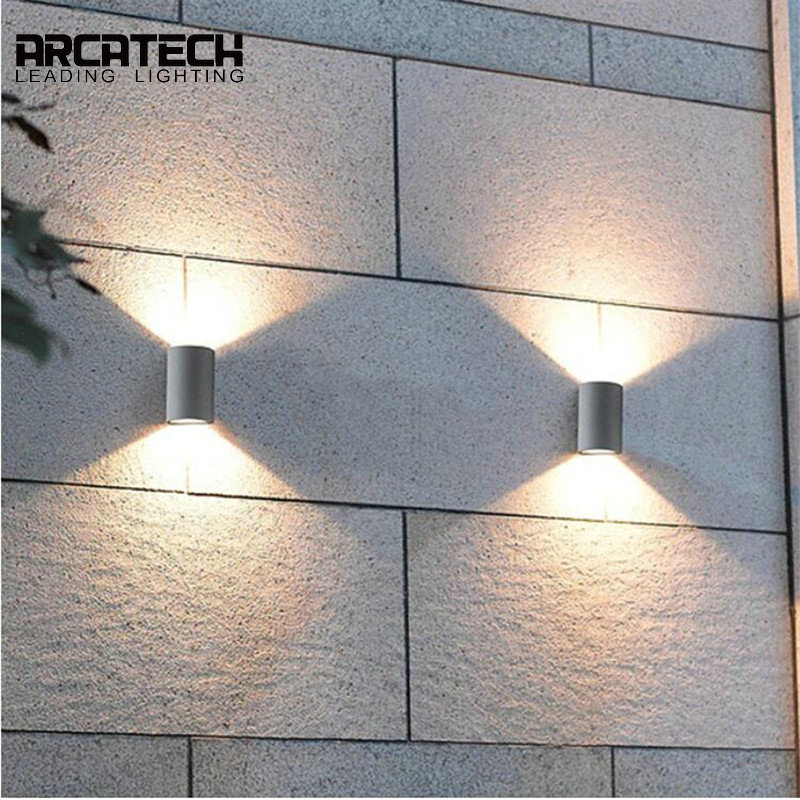 LED Wall Sconce Aluminum Waterproof Wall Lights Porch Light Garden Patio Corridor Lamp For Outdoor and Indoor Use AT-39 недорого