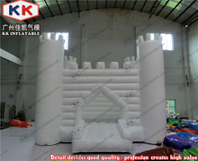 Commercial giant inflatable wedding white castle adult bounce house rental business