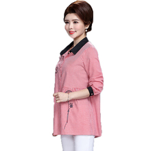 WAEOLSA Woman Plaid Shirt Red Black Grid Pattern Tops Middle Aged Womens Peplum Blouses Flower Embroidery Shirts Office Lady Top grid pattern long sleeves blouses