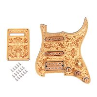 Guitar Pickguard Prewired SSH Set Alnico V Full Wood Style Refined For ST Right Handed