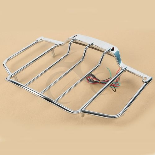 Trunk Luggage Rack With Light For Harley Air Wing Tour Pak 1993-2013 94 95 96 97 trunk luggage rack with built in light for harley davidson hd air wing tour pak