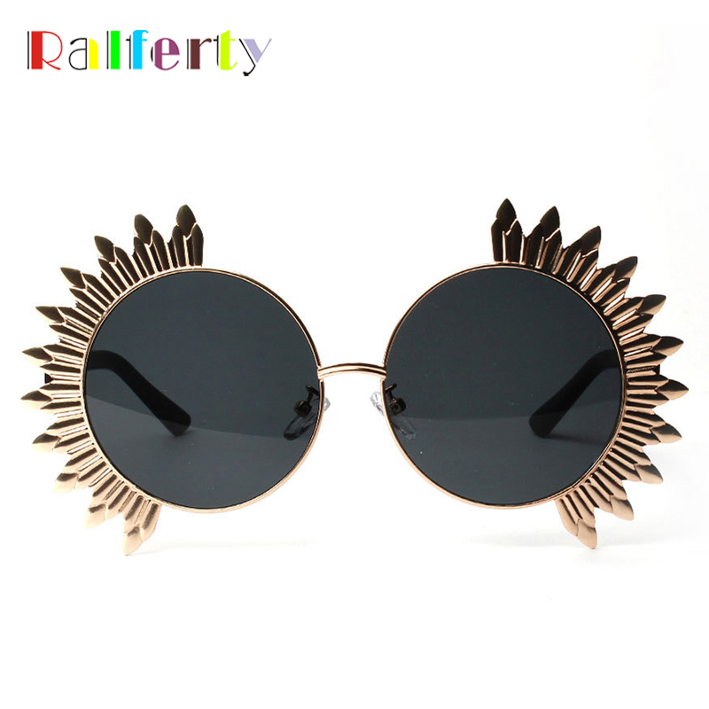 Ralferty Vintage Round Sunglasses Women Stylish Unique Sunglass Men Masquerade Mask Retro Eyewear European Sun Glass A1224