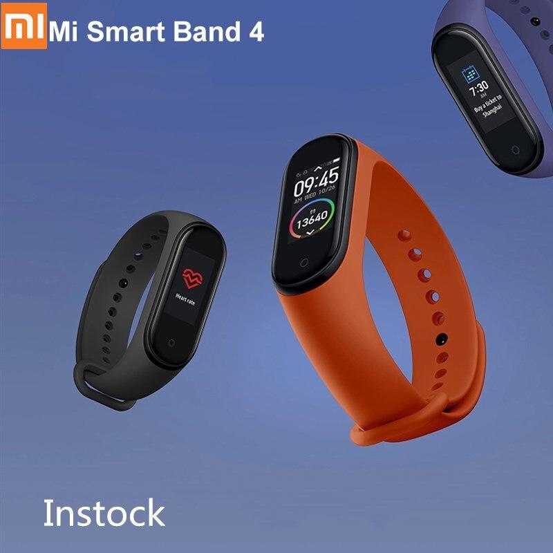 Original Xiao mi mi bande 4 Bracelet intelligent mi bande 4 Bracelet fréquence cardiaque Fitness Bluetooth 5.0 écran coloré Version chinoise