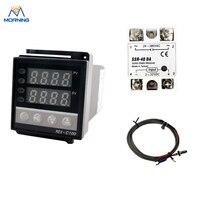 REX C100 Max 40A SSR Relay K Thermocouple PID Temperature Controller