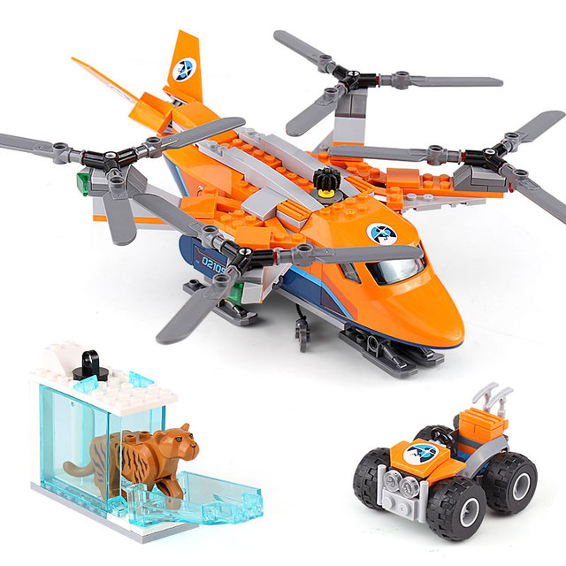 BELA Polar Police Arctic Series Arctic Ice Air Transport Model Building  Blocks Enlighten Toys For Children Compatible Legoe-in Blocks from Toys &