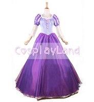 Запутанный Принцесса Рапунцель Костюм Сказка для взрослых нарядное платье аниме Косплэй костюм праздничное платье принцессы для взрослых
