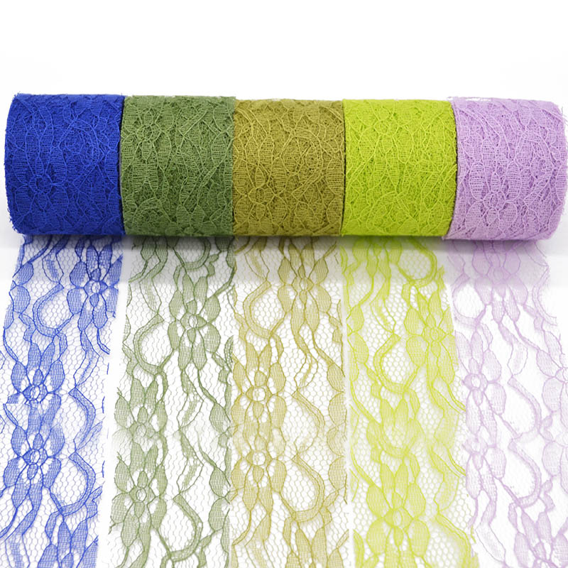 """Lace Roll 6/"""" x 10yard Runner Wedding Table Runner Vintage Party 7 Colors"""