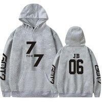 Korean K Pop GOT7 Hoodie Pullover KPop GOT7 Women Hoodie Sweatshirt Mens Hip hop Popular Idol Clothes