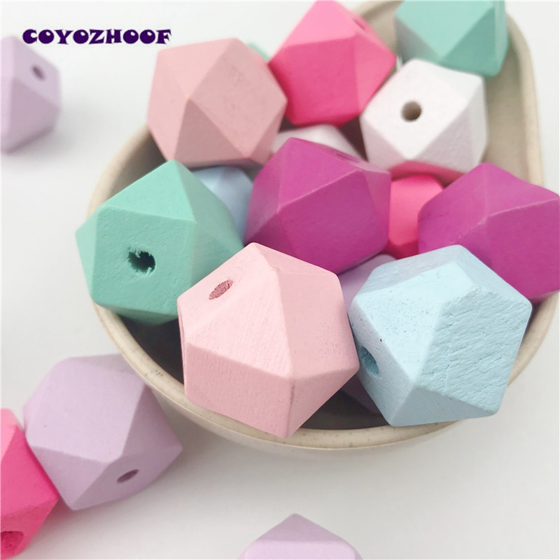 10pcs 20mm Gold And Silver Wooden Cube Unfinished Geometric Beads For Jewelry Making Necklace Diy Teething Jewelry Bead Beads & Jewelry Making