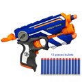Hot Fire Strike Elite Безопасный Мягкой Пуля Игрушечный Пистолет и 13 мягкие Пули Ручной Игрушечный пистолет 20 м Огнестрельные Диапазон Рождественские Игрушки