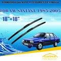 """Para VW VOLKSWAGEN SANTANA (1985-2005), Car Windscreen Windshield Wiper Blade 18 """"+ 18"""" acessórios de Carros estilo transporte Rápido"""