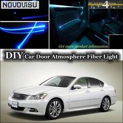 NOVOVISU dla Nissan Fuga Cima Y50 Y51 wnętrze Ambient Light Tuning atmosfera światłowód zespół światła drzwi Panel oświetlenia