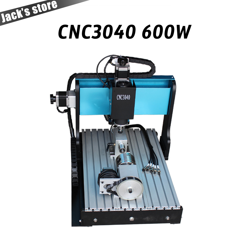 3040Z-DQ++(4aixs), CNC3040 600W Ball screw wood PCB engraving machine milling carving machine CNC 3040 cnc router cnc machine russia no tax 1500w 5 axis cnc wood carving machine precision ball screw cnc router 3040 milling machine