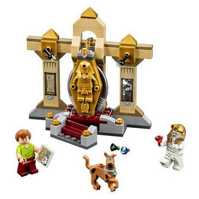 BELA <font><b>10428</b></font> Scooby-Doo Mummy Museum Stery Dog Building Blocks Brick Set Compatible Legoe 75900 Playmobil Toys For Children image