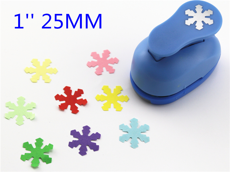 Freeship 25mm Snowflake Paper Cutter Craft Perfurador Cutter Scrapbooking Paper Punch For Kids Furador Diy Puncher R340