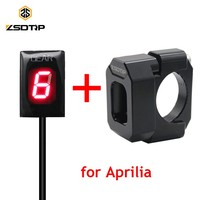 ZSDTRP Waterproof Motorcycle Gear Indicator LED Display for Aprilia ETV 1000 RS125 RSV Mille RSV4 Non ABS SL1000 Falco 1 6 Level