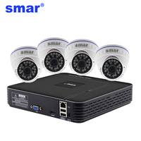 Mini 4 CH CCTV NVR H 264 HDMI 1080P Output Video Security System 1 0MP 4PCS