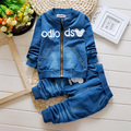 2017 New Fashion Baby Boys Clothing Set Spring/Autumn Children Cotton Clothes Set Kids Boys Cowboy Coats +Jeans 2PCS Suit
