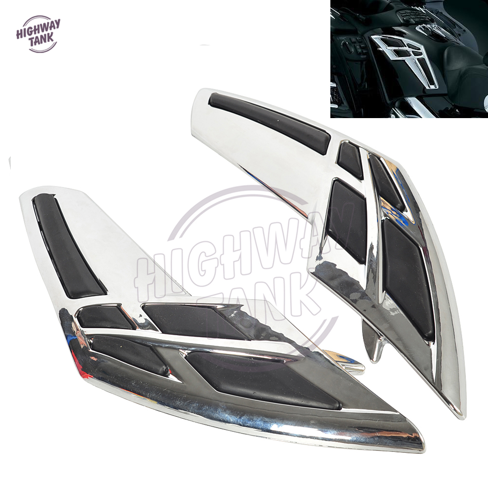 ABS Plastic Chrome Motorcycle Fairing Tank Trim Case for Honda Goldwing GL1800 2001-2011 2017 size 32 43 fashion black lace up high heels women boots ankle ladies shoes woman spring autumn chaussure femme 33 34 white