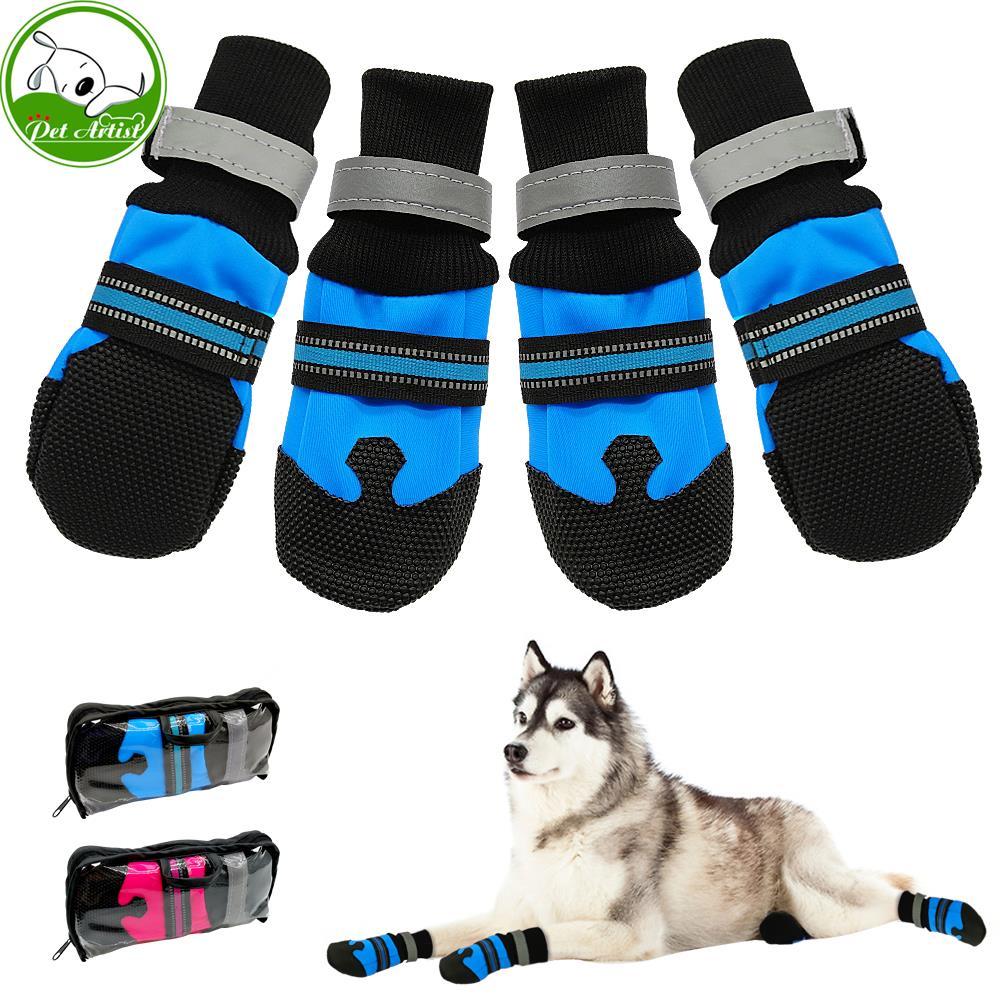 Asien 4pcs Calcetines para Mascotas Blue M Tama/ño Antideslizante Calcetines para Perros Zapatos del Animal dom/éstico de la Pata del Protector con los Calcetines del Gatito del Gato de Goma