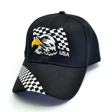 summer mens plaid USA baseball caps embroidery Eagle hunting hat women hip hop adjustable golf sports sgorras para hombre