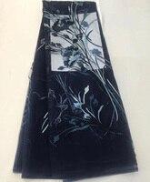 (5 ярдов/шт) наивысшего качества вышитый африканских Тюль Кружева темно синий французский чистая кружевной ткани для высокого качества праз