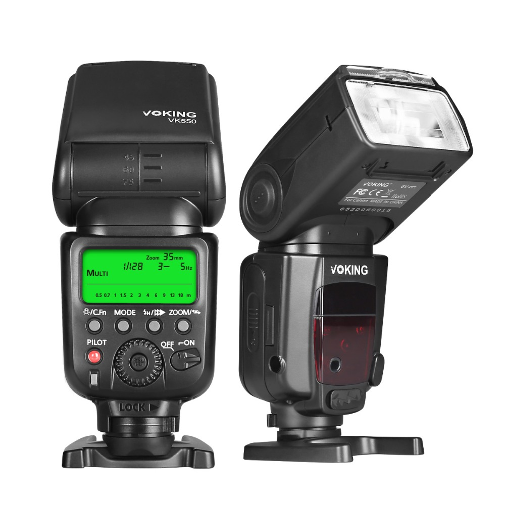 Voking E-TTL Flash Speedlite VK550 for Canon 5DIII II 7D 5D2 5D3 6D 70D 60D 600D 650D 550D 100D Digital SLR Cameras voking speedlite camera flash vk750 c for canon 700d 650d 600d 550d 450d 7d 6d 5d mark ii iii t5i t4i t3i digital slr cameras