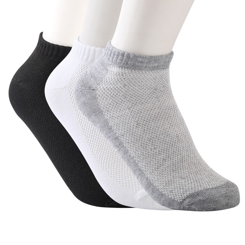 20PCS=10pairs Summer Men Mesh Socks Invisible Ankle Nylon Socks Men White Breathable Thin Boat Socks Size EUR 38-43 Cheap Price