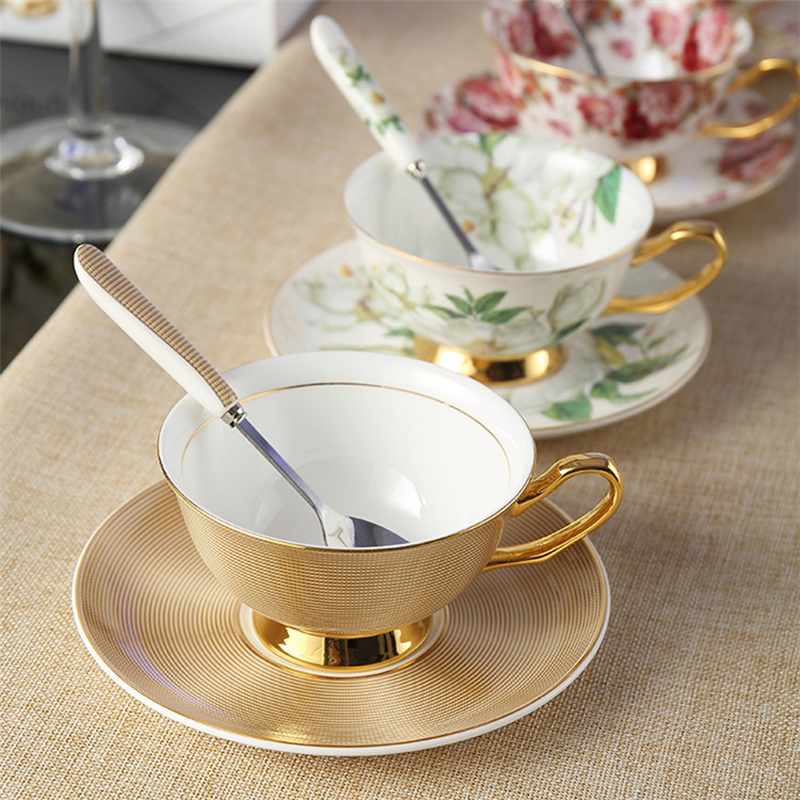Noble Bone China Tea Cups Ceramic Afternoon Coffee Cups And ... #afternoonCoffee