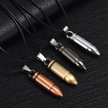 2019 New Arrival Men punk Pendant Necklace gothic Vintage Bullet Leather rope Personality choker Jewelry Male Friendship Gift