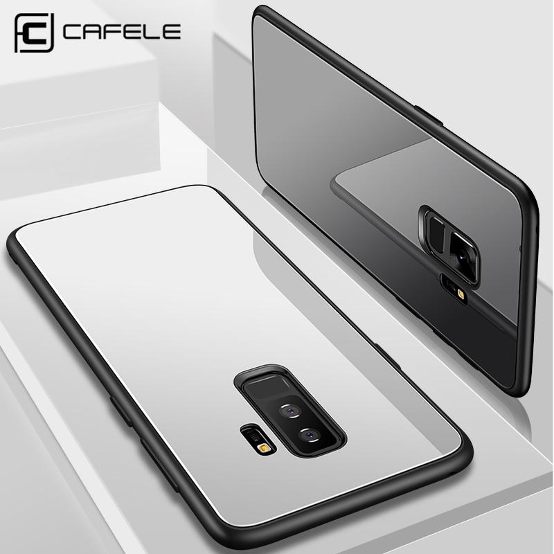 Galleria fotografica CAFELE Original Case For Samsung galaxy s9 plus soft TPU edge color Glass Tempered Glass Back Cover For Samsung galaxy s9
