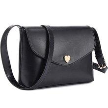 2017 neue Mode Herz Frauen Crossbody Tasche Leder Kleine Damen Schulter Tasche Casual Mädchen Umhängetaschen Weibliche Messenger Bags
