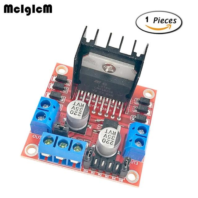 MCIGICM 1pcs New Dual H Bridge DC Stepper Motor Drive Controller Board Module L298N MOTOR DRIVER