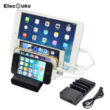 4 USB Ports Charging Dock Station For iPhone X 8 Plus/iPad Air/iPod/Samsung Galaxy S9/Huawei Mobile Phone Tablet 5V/2.1~1A Hub