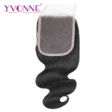 YVONNE Body Wave Brazilian Remy Hair Lace Closure 4×4 Free Part Human Hair Closure Natural Color Free Shipping