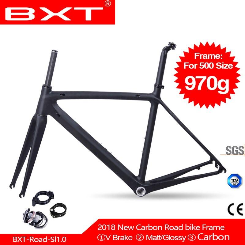 BXT углерода, руль для шоссейного велосипеда, рамки Сверхлегкий BSA DI2 рамки 500/530/550 мм рамка + вилка + гарнитура углеродное волокно для велосипеда, комплект