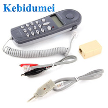 Kebidumei C019 Tool Network Tester Telephone Phone Butt Test Tester Lineman Cable for Telephone Line Fault