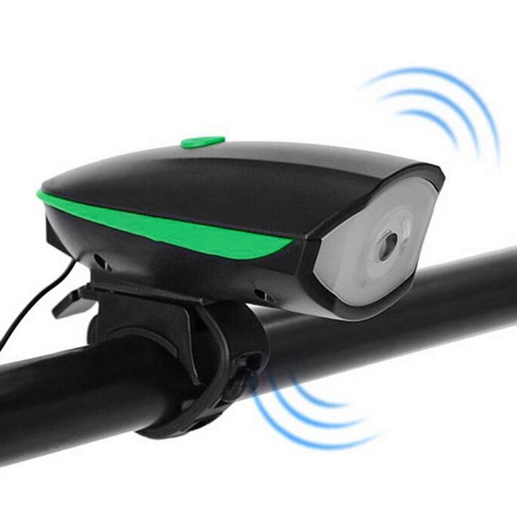 Bicycle Bell USB Charging Bike Horn Light Headlight Cycling Multifunction Ultra Bright Electric 120 Db Horn Bike Bell