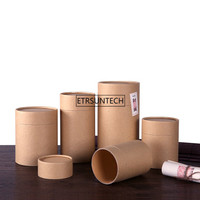 Tea Packaging Tube Drawing Tube Wrapping Packaging Wholesale Kraft Coffee Paper Tube Oil painting cylinder