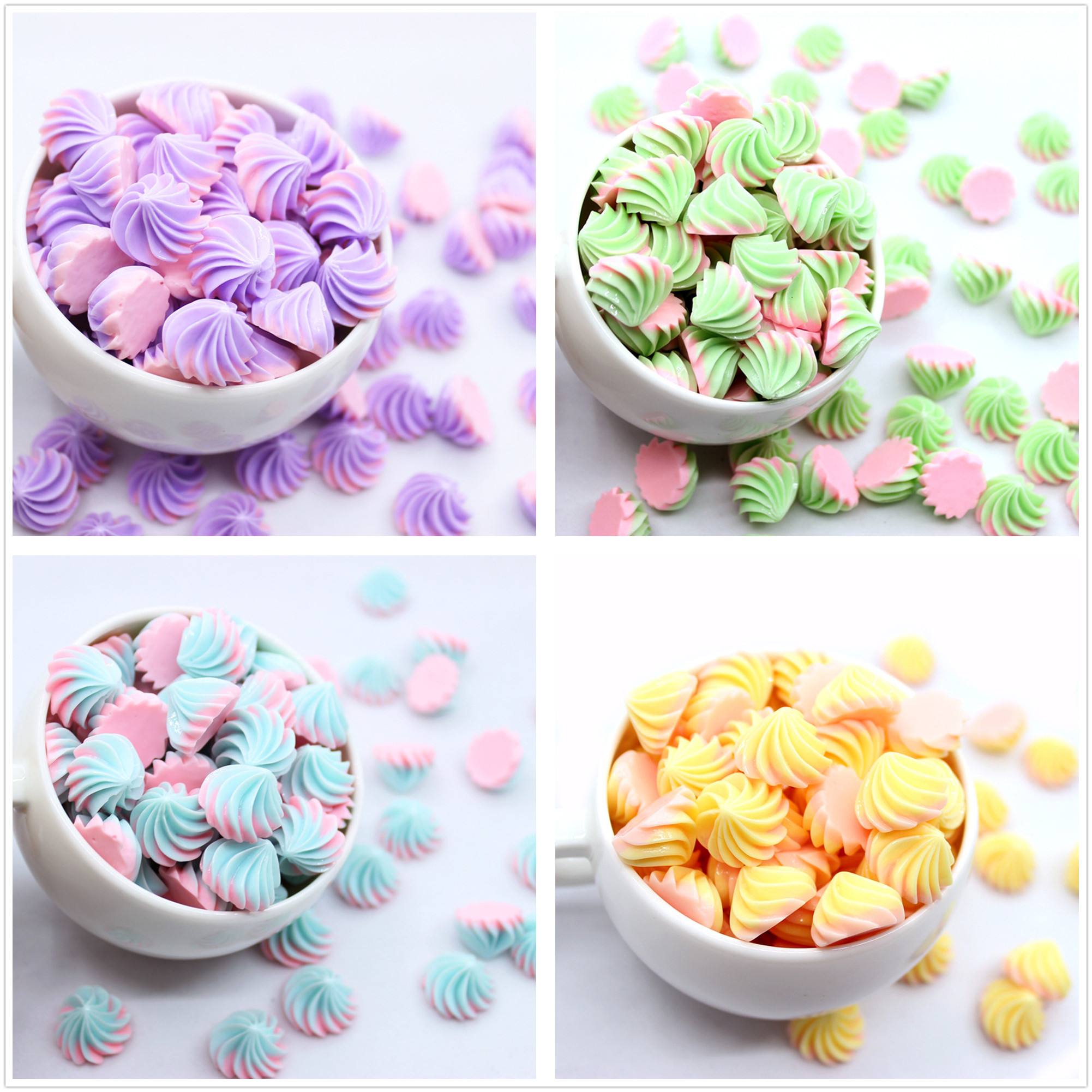 10pcs Mini Sugar Sweet Candy Biscuit Dollhouse Miniature Kitchen Toy Decoration