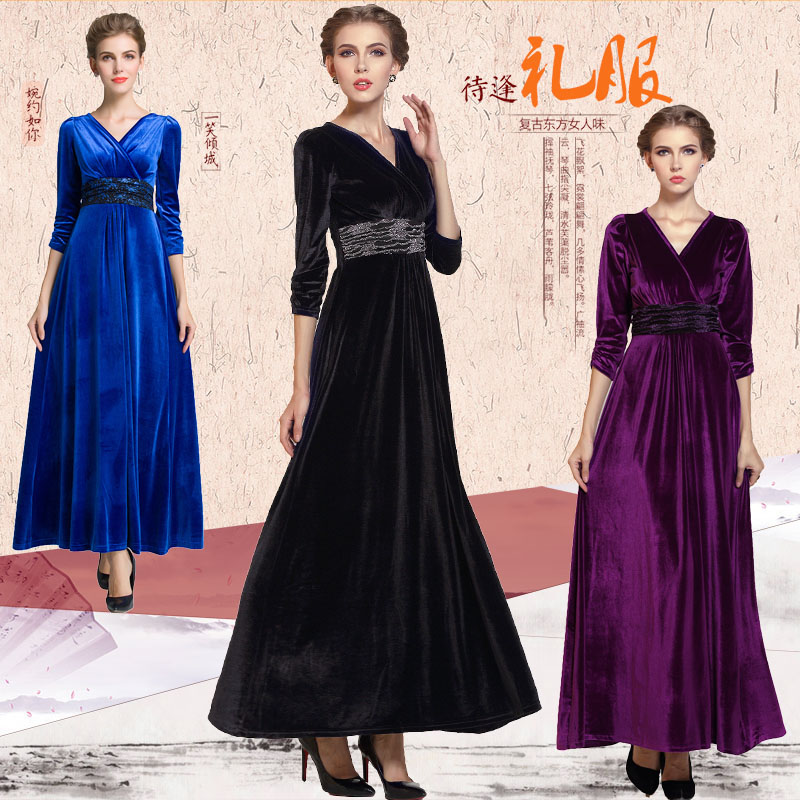 Slim Square Dance Full Dress Plus Size Formal Dinner Party Costume Long Design In Dresses From Women S Clothing Accessories On Aliexpress