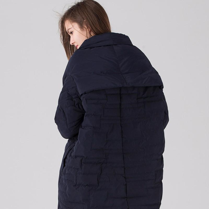 Duvet Mode Vers Design Veste Le Longueur Femmes Manteau Canard Asymétrique black Femme 2018 90 Longues Blanc navy D'hiver Blue Marque Européen Zs367 De Bas Beige Y7Tx0w