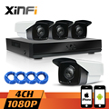 XINFI 4CH HDMI CCTV  NVR  Network Video Recorder 1080P HD Home Security Camera System 2.0MP IP Camera indoor/outdoor CCTV kit